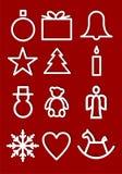 Bożenarodzeniowi symbole royalty ilustracja