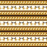 Bożenarodzeniowy bezszwowy wzór z holly i dzwonami Zdjęcia Stock