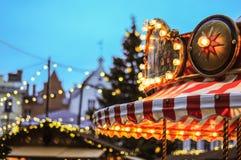 Bożenarodzeniowy carousel Fotografia Royalty Free