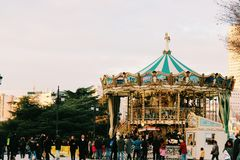 Bożenarodzeniowy carrousel obrazy royalty free