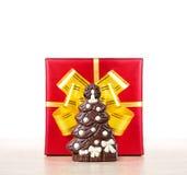 Bożenarodzeniowy czekoladowy drzewo Fotografia Stock
