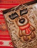 Bożenarodzeniowy czekoladowy renifera wzór zdjęcie royalty free