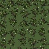Bożenarodzeniowy jedlinowych drzew bezszwowy wzór zdjęcie stock