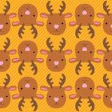 Bożenarodzeniowy jeleni bezszwowy wzór Zdjęcia Stock