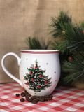 Bożenarodzeniowy kawowy kubek Obraz Stock