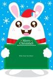 Bożenarodzeniowy królik karty szablon Royalty Ilustracja