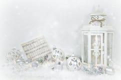 Bożenarodzeniowy lampion z ornamentami Fotografia Stock