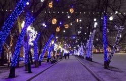 Bożenarodzeniowy Moskwa Zdjęcia Royalty Free