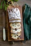 Bożenarodzeniowy owocowy chleb Obrazy Royalty Free