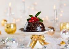 Bożenarodzeniowy pudding Zdjęcia Royalty Free