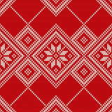 Bożenarodzeniowy puloweru projekt bezszwowy wzoru Zdjęcie Stock