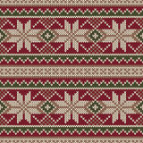 Bożenarodzeniowy puloweru projekt dziewiarski deseniowy bezszwowy Zima Holi Zdjęcia Stock