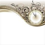 Bożenarodzeniowy romantyczny projekt z antyka zegarem Obrazy Royalty Free