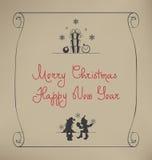 Bożenarodzeniowy Santa elfa projekt Fotografia Royalty Free