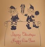 Bożenarodzeniowy Santa elfa projekt Fotografia Stock