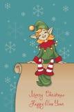 Bożenarodzeniowy Santa elfa projekt Zdjęcie Royalty Free