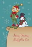 Bożenarodzeniowy Santa elfa projekt Obrazy Royalty Free