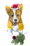 Bożenarodzeniowy szczeniak Obraz Royalty Free