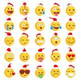 Bożenarodzeniowy Szorstki Emoji set Fotografia Stock