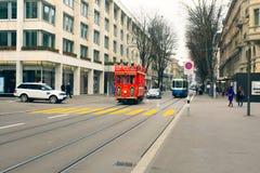 Bożenarodzeniowy tramwaj Zdjęcie Royalty Free