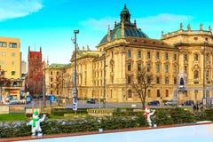 Bożenarodzeniowy uliczny widok w Monachium, Niemcy Obraz Royalty Free