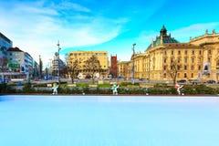 Bożenarodzeniowy uliczny widok w Monachium, Niemcy Obraz Stock