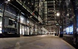 Bożenarodzeniowy wakacyjny nighttime zakupy przy centrum miasta w washington dc Fotografia Stock