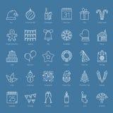 30 Bożenarodzeniowych ikon Zdjęcia Royalty Free