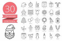 30 Bożenarodzeniowych ikon Zdjęcia Stock