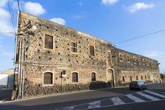 Bo i Catania stads-arhitecturedetalj arkivbild