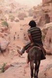 Bo i Wadi Musa Arkivbilder