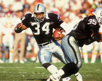 Bo Jackson Los Angeles Raiders Royaltyfri Bild