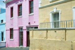 Bo Kaap的五颜六色的房子 图库摄影