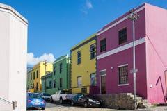 BO-Kaap in Cape Town is gekend voor zijn helder geschilderd huis Royalty-vrije Stock Foto's