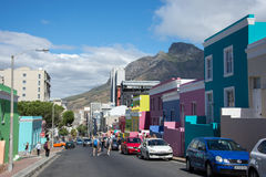 BO-Kaap in Cape Town is gekend voor zijn helder geschilderd huis Royalty-vrije Stock Fotografie