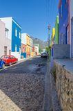 Bo Kaap, Cape Town Street. The Colourful Bo Kaap situated in Cape Town in the Western-Cape is a great Tourist Spot. A typical Street view Royalty Free Stock Images