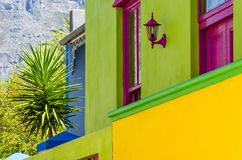 BO Kaap, detalle de Cape Town foto de archivo libre de regalías