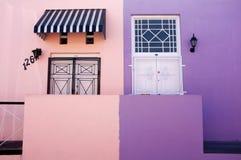 BO Kaap en Cape Town imagen de archivo