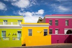 Bo kaap neiborghood在开普敦,南非 免版税库存照片