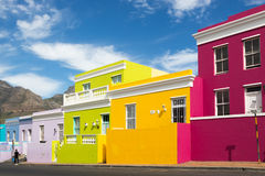 Bo kaap neiborghood在开普敦,南非 免版税库存图片