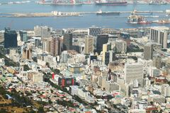 Bo kaap nighborhood, harbour and business district of Cape Town Royalty Free Stock Image