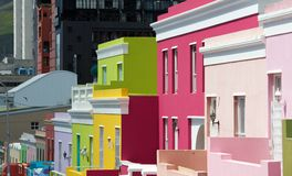 Bo-kaap Street scene,cape Town. Cape Town,Bo-Kaap-19 February 2015: Vibrant colours and quaint homes in Bo=Kaap street scene, Cape Town Stock Images