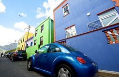 Bo-kaap and VW Beetle. Stock Photos