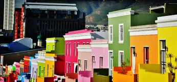 Bo Kaap Waal ulica Fotografia Stock