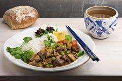 Bo Kho -与菜的传统越南炖牛肉 免版税图库摄影