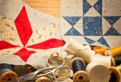 Bo länge patchworken Royaltyfria Bilder