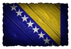 Bośnia i Herzegovina flaga Zdjęcie Stock