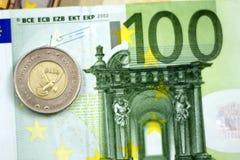 Bośniacka odwracalna ocena, monety na euro Obraz Royalty Free