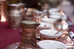 bośniacki kawowy set Zdjęcia Royalty Free