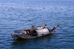 Bo på lagun Arkivbild